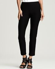 NEW EILEEN FISHER BLACK WASHABLE STRETCH CREPE SLIM ANKLE PANT L $168
