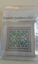 "*COASTER 002 ** IS A CROSS STITCH KIT  WITH COASTER 3"" square"