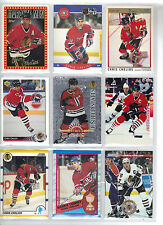 Lot of 1000 (One Thousand) Chris Chelios Hockey Card Collection Mint