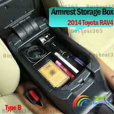 Upgrade B Car CENTER CONSOLE Glove Armrest Storage Box Tray For Toyota 2014 RAV4