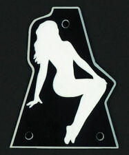 GUITAR TRUSS ROD COVER - Engraved - JACKSON - PIN-UP GIRL - OVERSIZED XL - BLACK