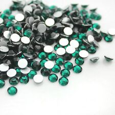 3D Nail Art Tips 1440pcs SS8(2.5mm) Crystal Emerald Rhinestone DIY Decoration