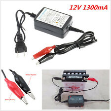 Car Truck Motorcycle 12V 1300mA Smart Compact Battery Charger Tender Maintainer
