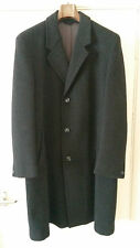 Men's John Collier Long Checked Vintage Tweed Overcoat Chest 40 AR8970