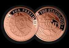 2016 VOTE TRUMP FOR US PRESIDENT LARGE 39mm HEAVY COLLECTIBLE COPPER COIN 1oz