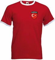 Turkey Turkish Türkiye  Retro National Football Soccer Team T-Shirt  - All Sizes