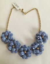 NWT J Crew Crystal Floral Burst Statement Necklace Hydrangia $69.50 #A6078
