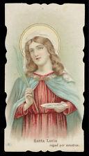 antico santino cromo-holy card S.LUCIA V.M.