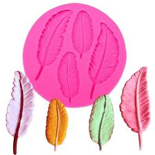 Silicone Feather Cake Cupcake Decoration Backing Icing Mould *UK Seller*