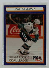 1992-93 Pro Set Hockey; Pat Falloon 4 of 12; Rookie Goal Leader; San Jose Sharks