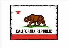 California Republic Vintage Style Metal Sign USA American Vintage Sign