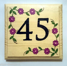 House Number Plaque / Sign / Gift - Home Hotel Door Room Garden Flower Border