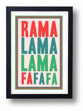 Rama Lama Lama Fa Fa Fa MC5 / Primal Scream Art Print