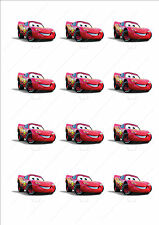 Novelty Lightning McQueen Cars Stand Up Cake Cupcake Toppers Edible Birthday