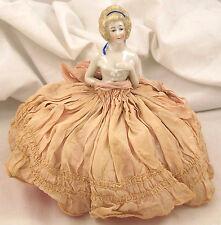 Antique German Porcelain Half Doll Pin Cushion
