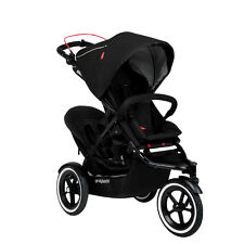 Phil & Teds Navigator 2 Stroller & Double Kit Black- Includes Double Seat! New!