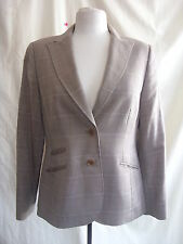 Ladies Jacket - Austin Reed, size 12, light brown check, smart, office - 7245