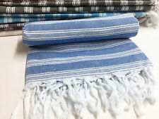 TURKISH HAMMAM HAMAM PESHTAMAL PESHTEMAL COTTON BATH TOWEL GIFT BEACH BLUE