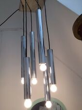 Chandelier Suspension design 60 70 Sciolari Burchiellaro lamp Space age panton
