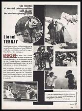Publicité CNPC LIONEL TERRAY Photo appareil photo  ad  1960 - 4i