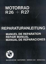 Instandsetzungsanleitung / Anleitung für BMW R 26 und R 27 ; R26 und  R27 neu