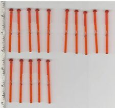 Star Wars LEGO x 15 Trans-Orange Bar 1 x 8 with Round End (Spring Shooter Dart)