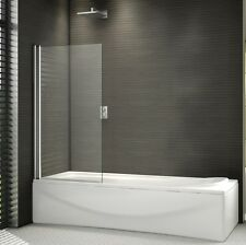 800x1500mm 180° Pivot Shower Bath Screen Frameless Over 6mm Glass Door Panel