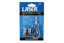 LASER Micro Stubby Magnetic Screwdriver Bit Holder + Torx Tamperproof Bits 6488