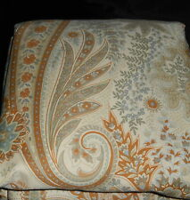 Pottery Barn Blythe Paisley Full Queen Duvet Cover + 1 Std Sham Nuetral 350 TC