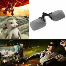 Clip On Passive Circular Polarized 3D Glasses Clip for LG 3D TV Cinema Film HS