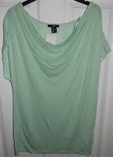 H&M MINT GREEN COWL LONGLINE T-SHIRT / TOP M MEDIUM BNWT