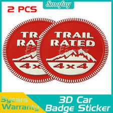 2PCS For Jeep Wrangler JK Compass Patroit Trail Rated Car Emblem Badge Sticker