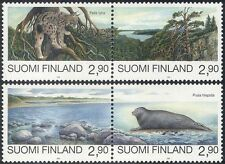 Finland 1995 Seal/Lynx/Nature/Cats/Wildlife/Conservation/Environment 4v (n44042)