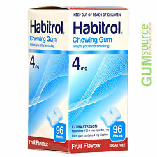 Habitrol 4mg FRUIT  1 box 96 pieces Nicotine Quit Smoking Gum