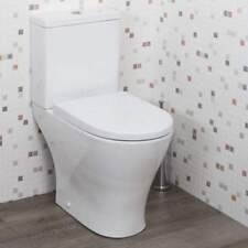 600 mm Compact D Shape Close Coupled Toilet WC Pan Short Projection cistern+seat