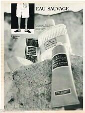 PUBLICITE ADVERTISING 105  1968  EAU SAUVAGE de DIOR par RENE GRUAU savon after