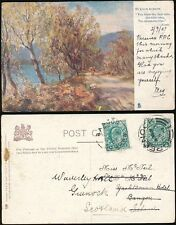 IRELAND 1903 REDIRECTION ADDED BANGOR to GREENOCK...HOTELS YACHTSMAN + WAVERLEY