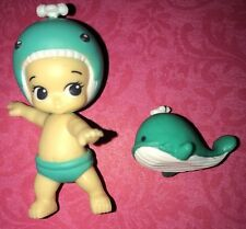 TWOZIES SEASON 2~Common Girl Teal Whale Baby GALE & Pet OCEANA
