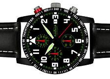 ASTROAVIA PILOT No.11L BLACK EDITION 6 ZEIGER PROFI CHRONOGRAPH FLIEGERUHR