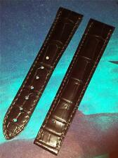 OMEGA GENUINE FITS ANY 19mm WIDTH LUG BLACK ALLIGATOR 97236073 DEPLOYMENT STRAP