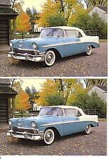 1956 Chevy Bel Air Convertible automobile Postcard - lot of 2 - Must See !!