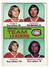 1X GUY LAFLEUR 1975 76 Topps #322 VG Montreal Canadiens Mahovlich
