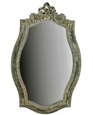 Vintage Wall Mirror Distressed Shabby Chic Ornate Black Grey Metallic Rose NEW