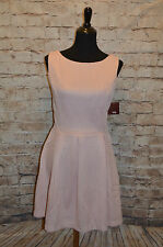 Modcloth Brio Grande Dress  Ixia Textured Dress Sz M NWT Pink box pleat skirt