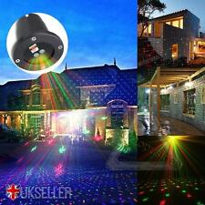 UK Xmas Light Sky Star Laser Spotlight Shower Christmas Outdoor Garden Lights