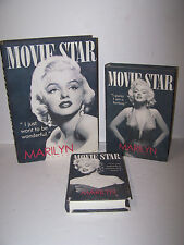 Set of 3 Marilyn Monroe Movie Star Nesting Boxes Book-Shaped