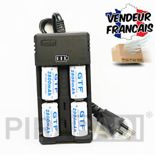 CHARGEUR RS-93 + 4 PILES ACCU RECHARGEABLE CR123A CR123 16340 3.7v 2800mAH