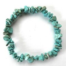 **BEAUTIFUL TURQUOISE HOWLITE CRYSTAL CHIP BRACELET**