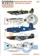 Freightdog Decals 1/72 KEEPING THE PEACE Part 2 RAF, Polish, SAAF, & RNZAF