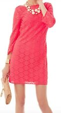 NWT Lilly Pulitzer Topanga Tunic Dress Island Coral Breakers Lace sz Small $168